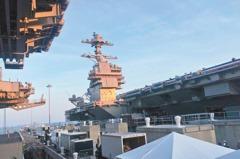 川普主持 超級航母福特號服役