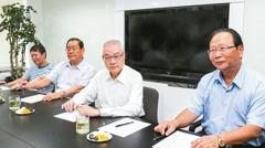 吳敦義與黨團座談 王金平缺席