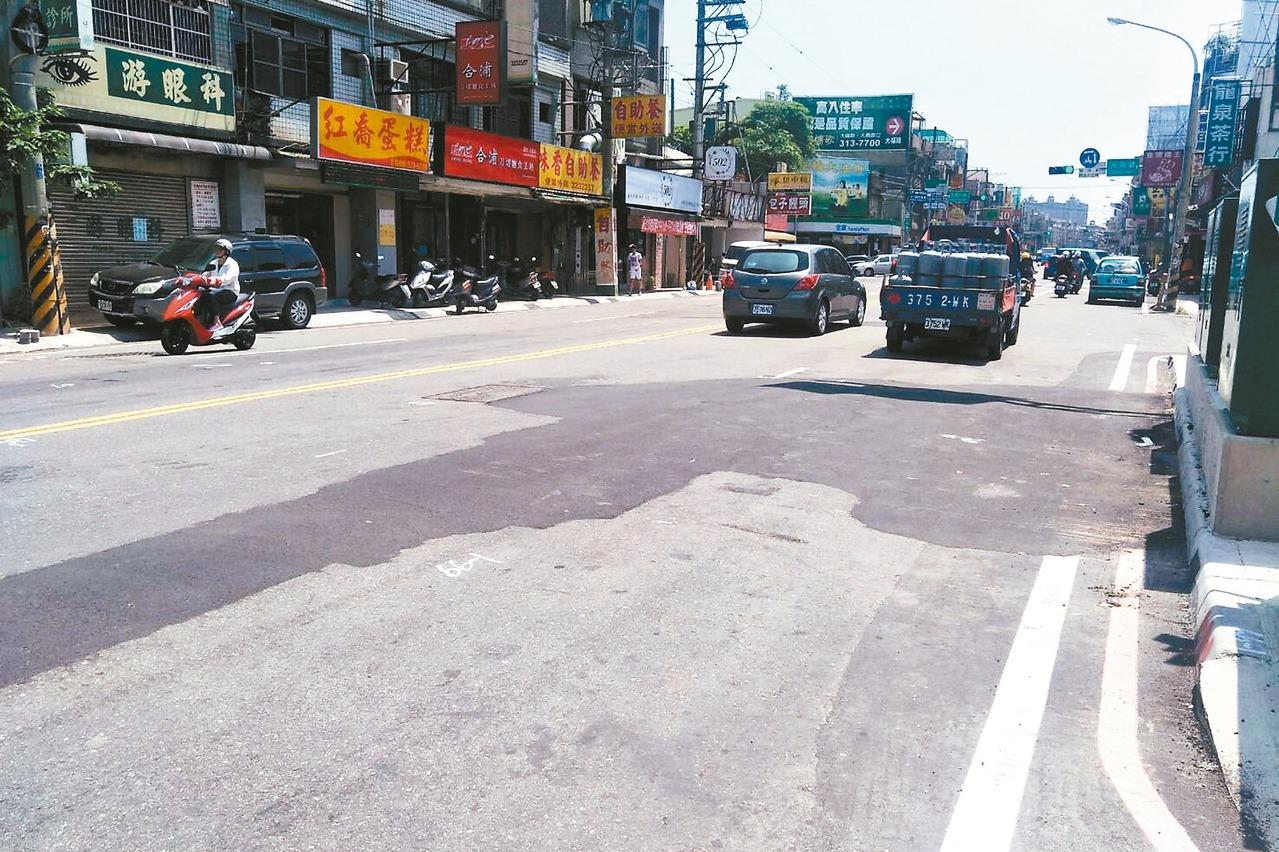 大竹路人行道 完工又重刨 惹民怨