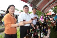 葡萄酒、創意菜 二林幸福酒韭