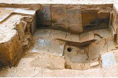 西安發現戰國秦皇家浴室 牆鋪磚有排水設施