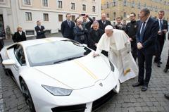 教宗獲贈藍寶堅尼將拍賣 收益捐慈善機構