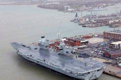 英國造價1200億最新航母 剛服役就漏水
