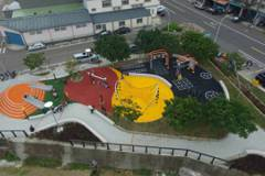 空拍好美!新竹又一座新兒童公園 還可健身