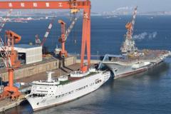 保障船到位 傳大陸首艘自製航艦即將海試