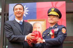 林口警分局成立 朱立倫:治安、交通、為民服務須提升