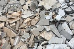 震損石材成廢料堆成山 台開再利用鋪地震紀念人行道