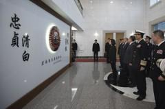 蔡總統視察軍情局 向無名英雄紀念碑致敬