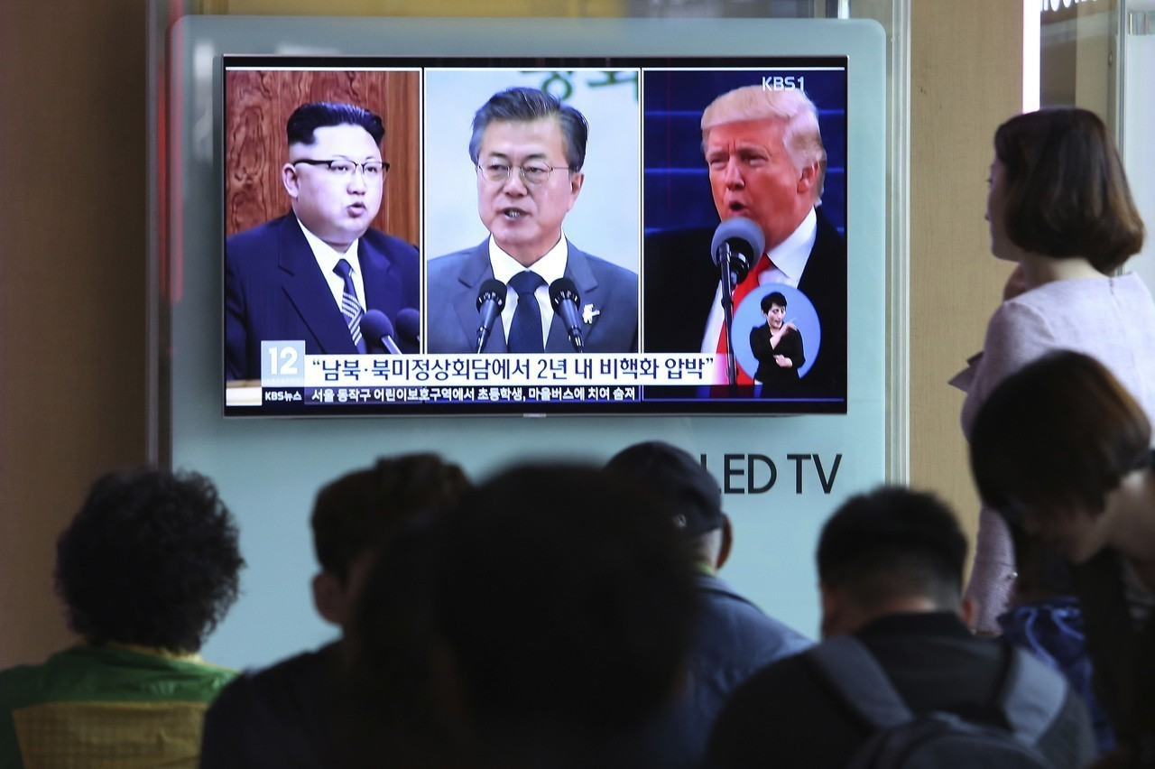 韓中央日報:文在寅、金正恩、川普將宣布韓戰結束