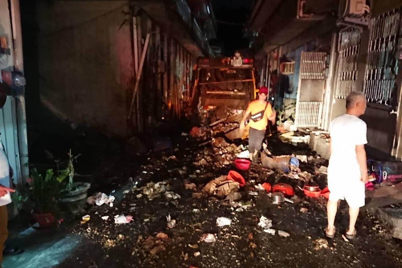 蘇澳垃圾車氣爆 疑似民眾丟棄小鋼瓶擠壓後引爆