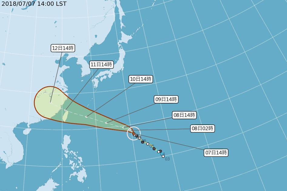颱風瑪莉亞路徑再南修 不排除登陸台灣