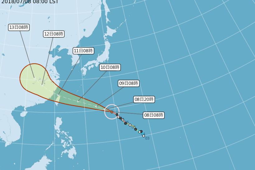 瑪莉亞路徑南修 恐成強烈西北颱