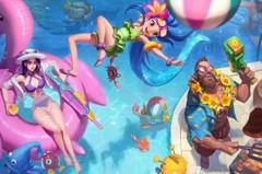 LOL/ 泳池狂歡造型登場! 凱特琳、剛普、柔依幫你降暑氣