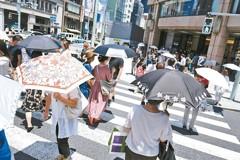 熱到創紀錄!史上首見 東京高溫飆破40度