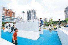 台中市豐樂公園 玩「跑酷」