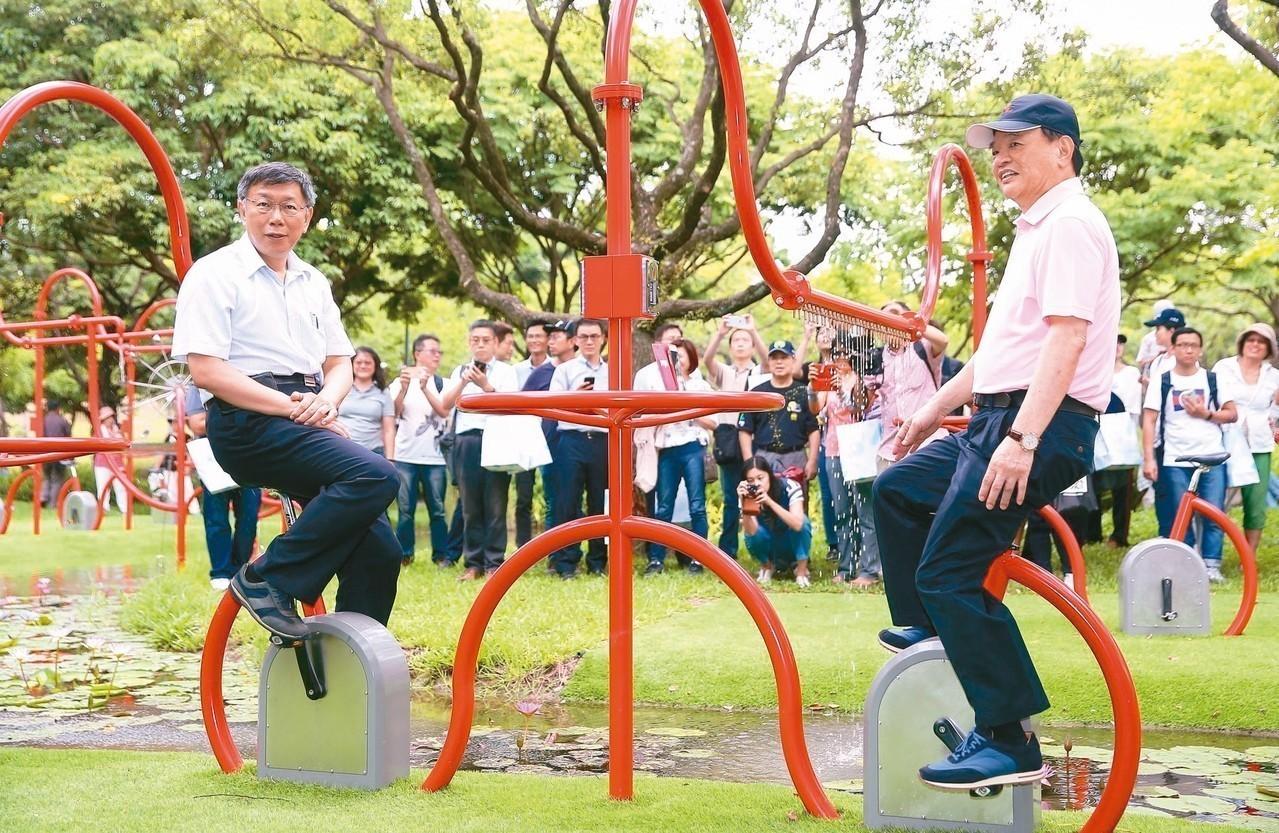 大灣草圳計畫「踩飛輪」為草圳補水