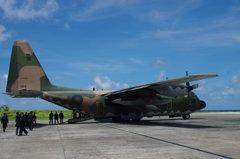 救援印尼 空軍慈航任務C-130運輸機新竹待命