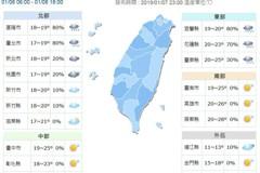 周四回暖 13日北台灣再轉涼