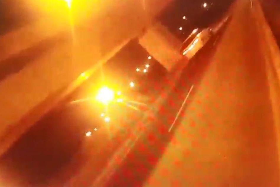 影/台中休旅車衝破警路檢點 遭轟1槍仍脫逃