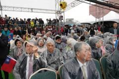 不畏風寒 王金平宣布參選總統記者會爆滿
