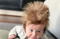 「怒髮衝冠」男嬰成網紅 廣告商機找上門