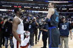 NBA/諾維茨基、韋德告別 冰釋前嫌友情萌芽