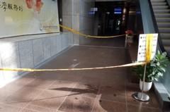 花蓮6.1地震 北市府1樓天降鋁框架