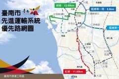 台南捷運墊付案 僅藍線、延伸線通過