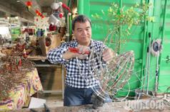 水電技師變身園藝達人 李隴為藝術品賦予生命力