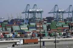 貿易戰害的 美國最繁忙貨櫃港出口連七月走下坡