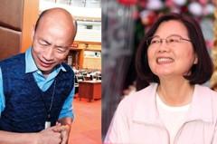經濟學人智庫:蔡英文將險勝韓國瑜連任成功