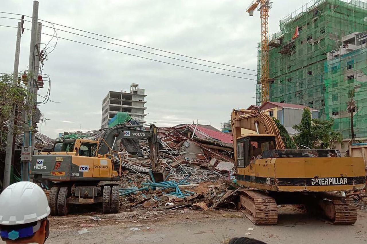 柬埔寨中資大樓倒塌起訴7人 含5名中國人