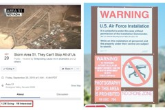 影/硬闖51區!臉書惡搞活動竟吸百萬響應 美軍說話了