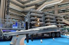 劍翔無人機12聯裝發射系統 網友:賽鴿車概念