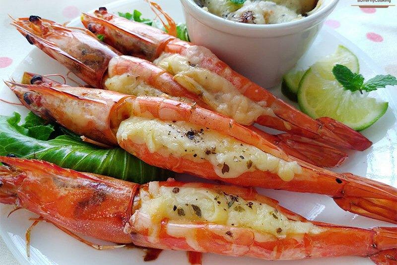 【食譜】焗烤大蝦(豪華低醣菜)