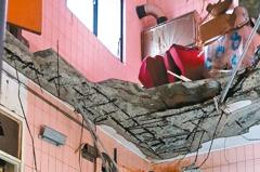 海砂屋公寓 地板塌落變「樓中樓」
