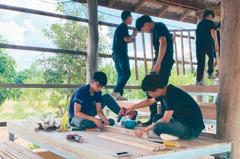 交大志工團 柬埔寨蓋房印度課輔