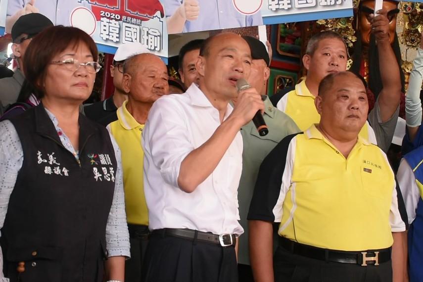 影/韓國瑜參訪溪口北極殿 韓:政治人物需苦民所苦