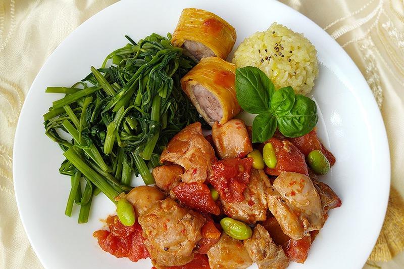 【食譜】番茄燒雞。包含冷凍番茄保存分享