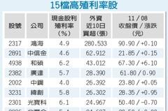 15高殖利率股 避震首選