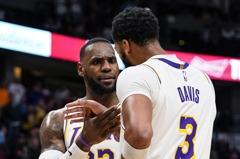 NBA/喊話拒絕2連敗 詹皇連線AD率湖人碎金