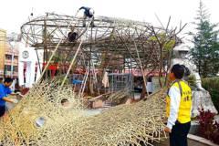 土地公婆當主燈意象 竹山鎮首次辦大型竹藝燈會