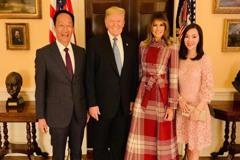 郭台銘分享和川普合照:謝謝白宮好友稍來的照片