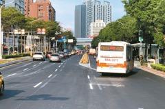 板橋文化路設新北市首條公車專用道 一般車開進要罰