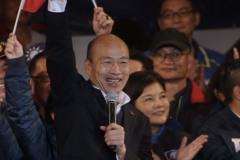 韓國瑜台中造勢 秀「台灣六塊肌」政策
