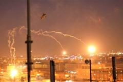 影/直擊!阿帕契直升機展示武力 協防美大使館