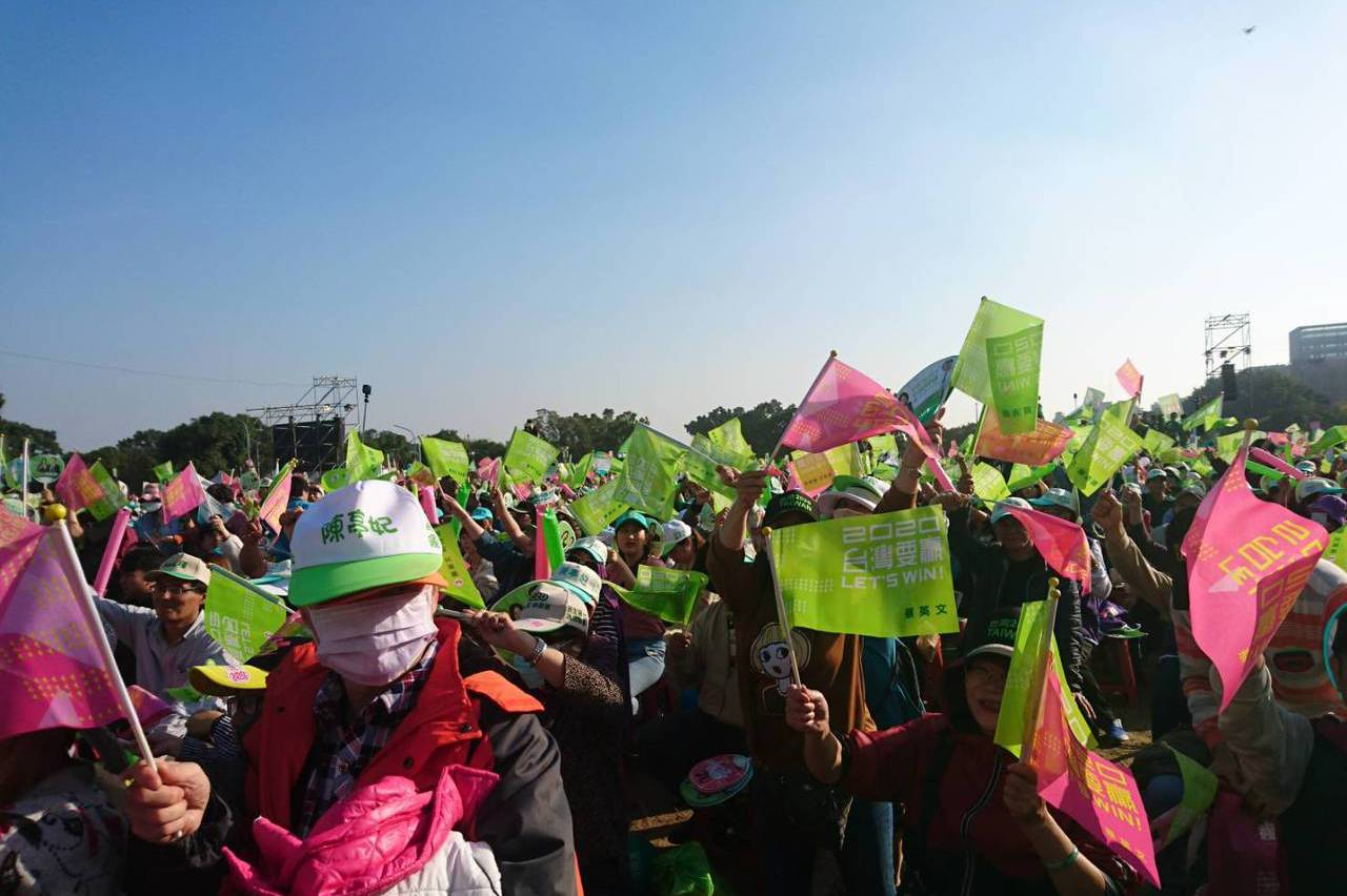 民進黨台南造勢 鄭文燦砲轟韓國瑜在黑鷹失事作文章