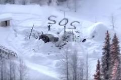 雪地上寫斗大SOS!美國男子受困荒野23天終於獲救