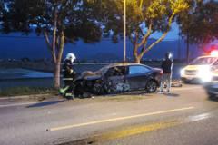 小客車自撞路樹5人傷 6歲女童內出血傷勢最重