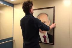 影/戰鬥民族超愛他?電梯內放普亭肖像 揭俄國人超真實反應